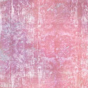 Scratched Pink, Digital composite by Liz Ruest, 10 layers